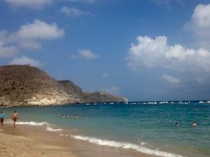 The beach in Cabo de Gata