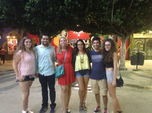 One of many nights out at the feria real.