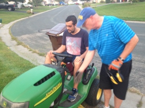 When you ask Cris what was his favorite part of America, his answer: Cutting the grass.