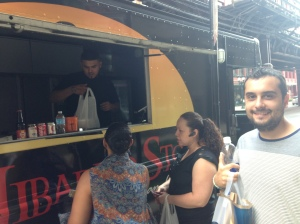 Crossed of eating from a food truck! The owner is from Costa Rica, so Cris enjoyed speaking some Spanish with him!